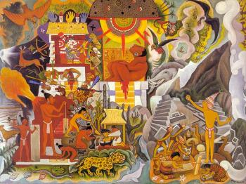 Pre-Hispanic America,Book cover for Pablo Neruda's,Canto General